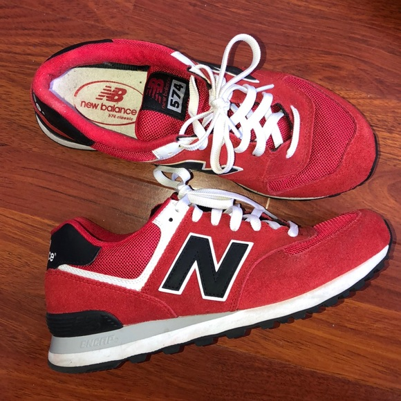 new style f19a4 d7bce New Balance 574 Red/Black